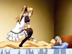 Cute blonde maid gets a creampie
